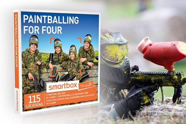 Paintballing For Four - Smartbox By Buyagift