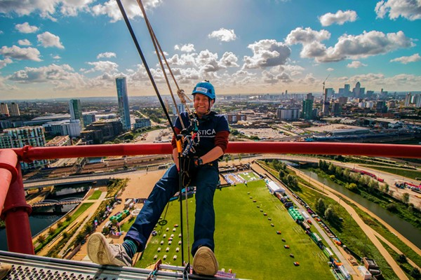 Freefall Abseil at The ArcelorMittal Orbit