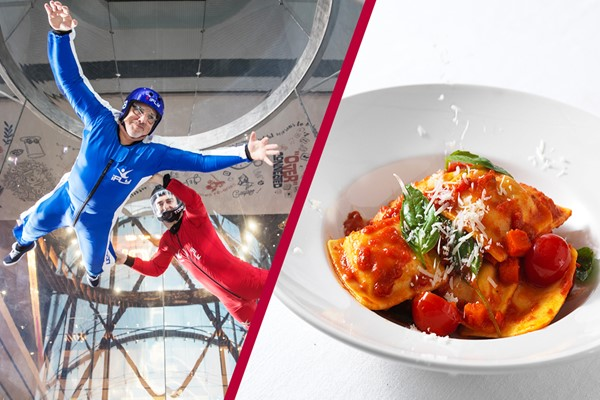 Buy iFly Indoor Skydiving and Three Course Meal with Wine at Prezzo for Two