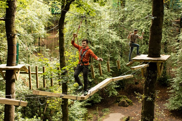 Zip Trek And Treetop Nets For Two At Treetop Trek