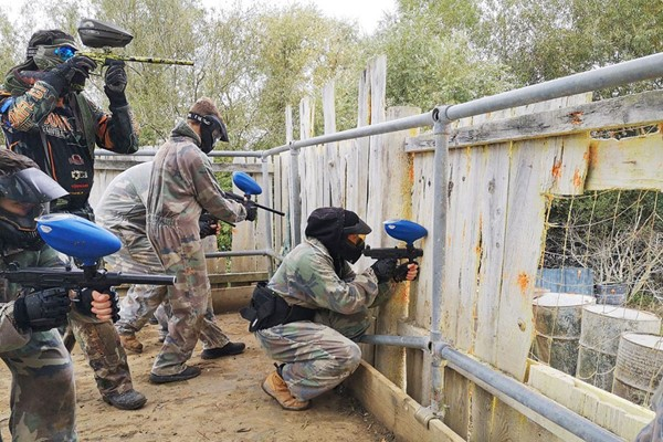 Click to view product details and reviews for Half Day Paintballing With 50 Paintballs Each For Two Adults And Two Children.