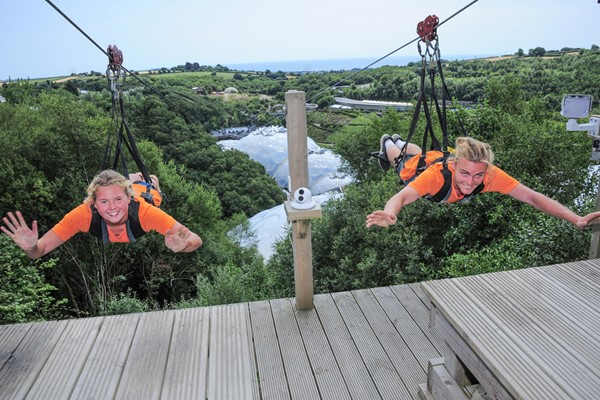 Hangloose At The Eden Project  Zip Wire For Two