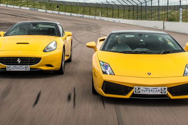 Double Supercar Driving Blast With High Speed Passenger Ride