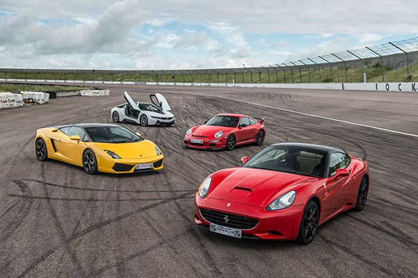 Four Supercar Driving Blast With High Speed Passenger Ride  Week Round