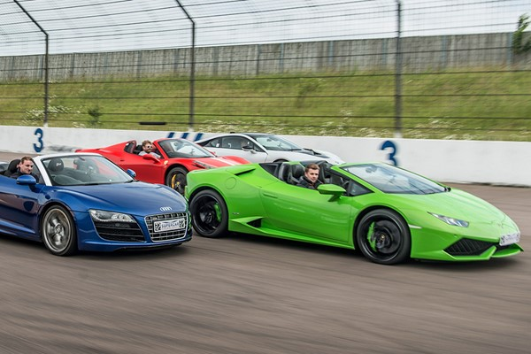 Four Supercar Thrill With High Speed Passenger Ride