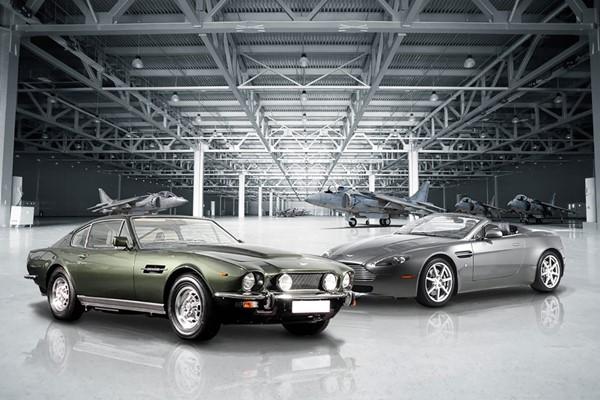 007 Modern Aston Martin Vantage And 70s Vantage Driving Blast