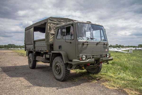 Military Vehicle Off Road Driving In A MAN SV HX60 Or Hagglunds BV206