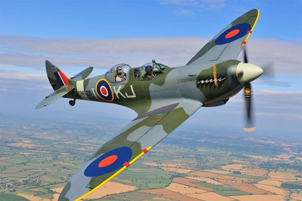 Fly In A Spitfire Over The English Channel