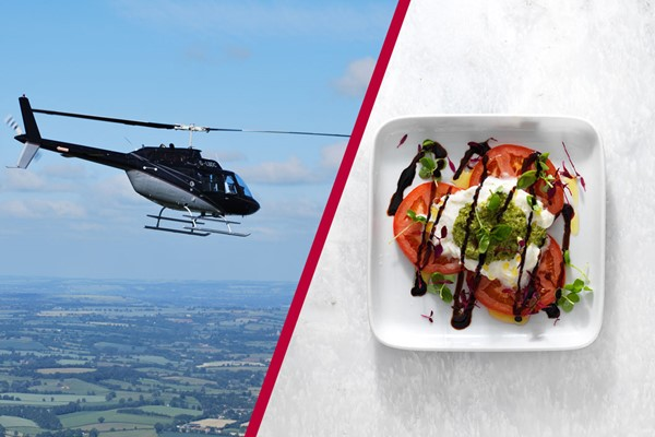 12 Mile Helicopter Tour With Bubbly And A Three Course Meal With Wine At Prezo For Two