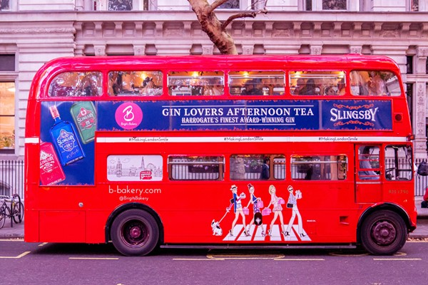 Buy Gin Afternoon Tea London Bus Tour for Two with Brigit's Bakery