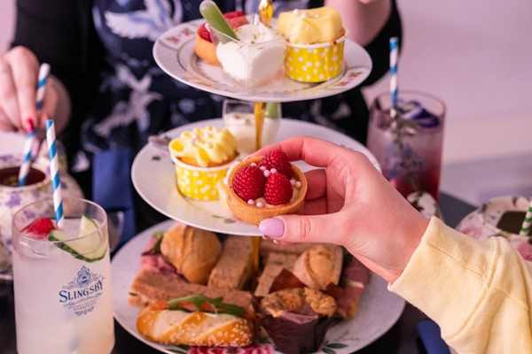 Buy Gin Afternoon Tea for Two at Brigit's Bakery