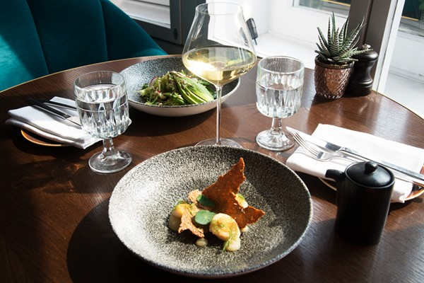 Three Course Meal With Wine For Two At Bishopsgate House Hotel