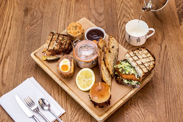 Gentlemans Afternoon Tea With Craft Ale Or Lager For Two At Swan Bar And Restaurant