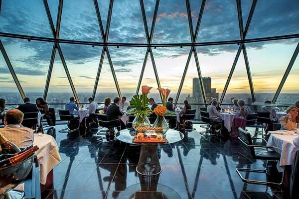Three Course Meal With Cocktails For Two At Searcys At The Gherkin