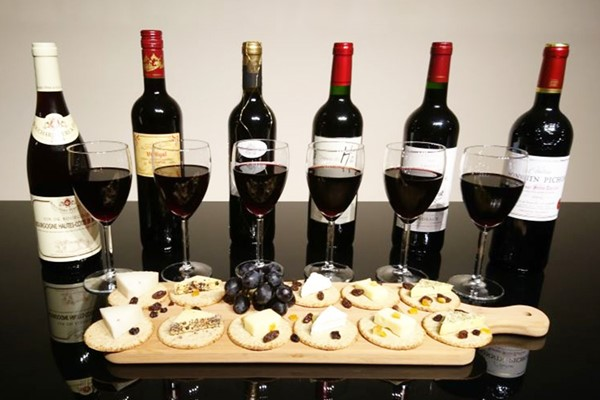 Luxury Vintage And Estate Red Wine And Cheese Tasting For Two At Wine Cottage