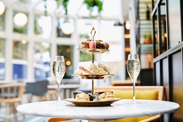 Champagne Afternoon Tea For Two At Falcondale Hotel