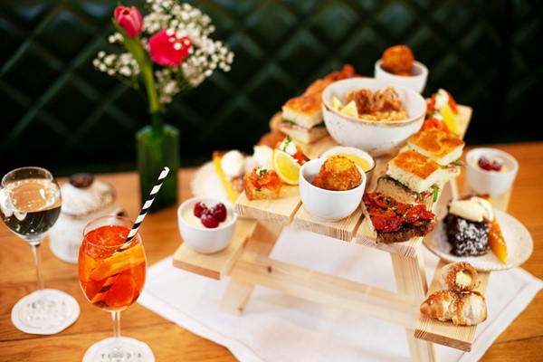 Afternoon Tea With Bottomless Bellinis For Two At Theos Simple Italian