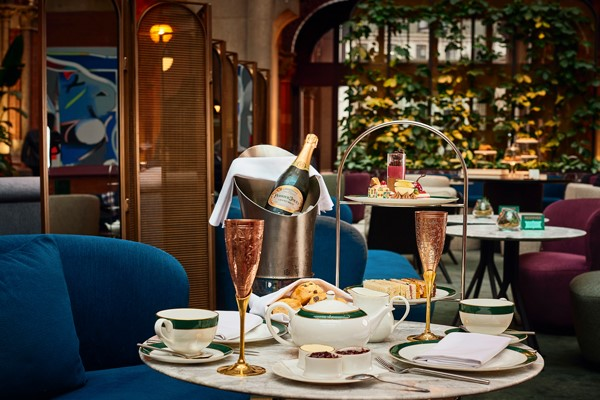 Afternoon Tea With Free Flowing Champagne For Two At The Hansom In 5* St. Pancras Renaissance Hotel