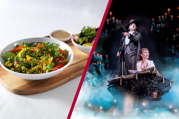 Buy Theatre Tickets to The Phantom of the Opera and a Meal with Wine for Two at Prezzo