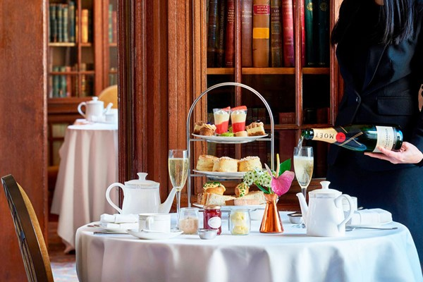Champagne Afternoon Tea In The Library  London Marriott Hotel County Hall For Two