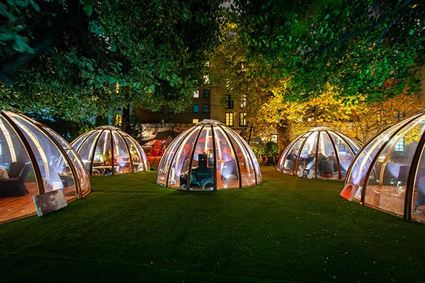 Champagne Afternoon Tea For Two In The Domes At London Secret Garden Kensington