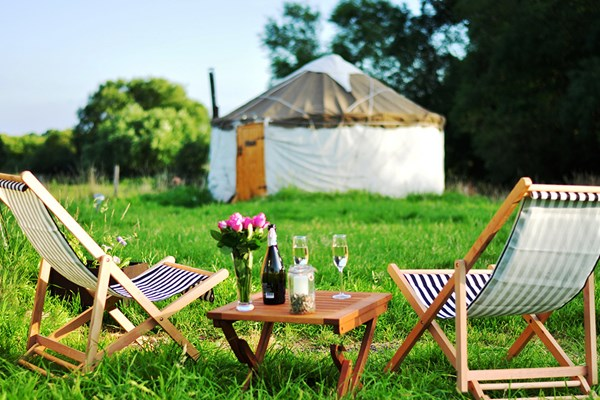 Two Night Glamping Break In The Warwick Knight Caravan  Gloucestershire