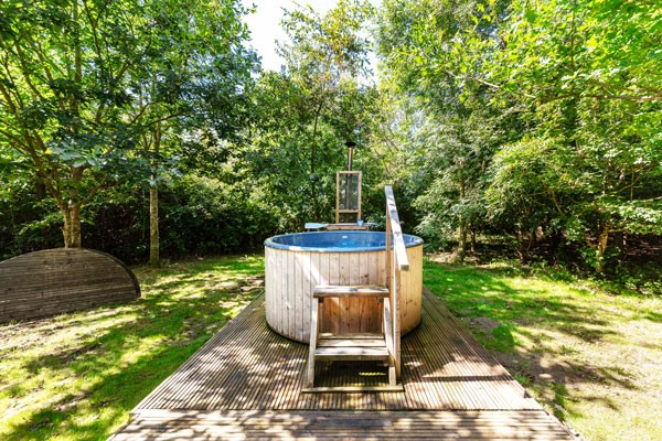 Buy One Night Glamping in Bell or Yurt with Hot Tub and Fizz at Woodland Escape