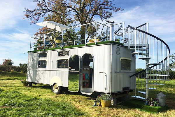 Buy Two Night Glamping Break in The Warwick Knight Caravan, Gloucestershire