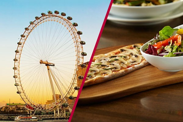 London Eye And Three Course Meal With Wine At Prezo Trafalgar Square