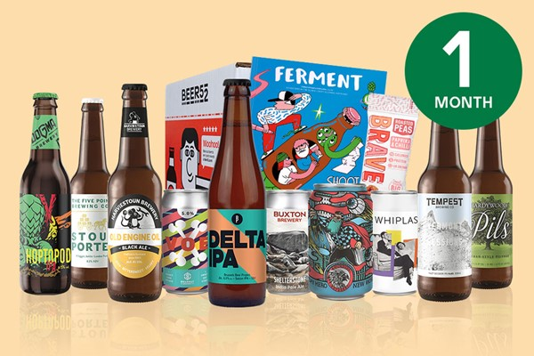 One Month Eight Pack Of Beer Subscription To Beer52 For One
