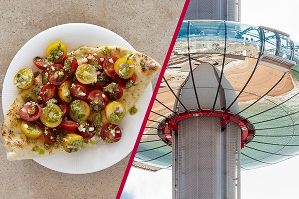 British Airways I360 Flight And Three Course Meal With Wine For Two