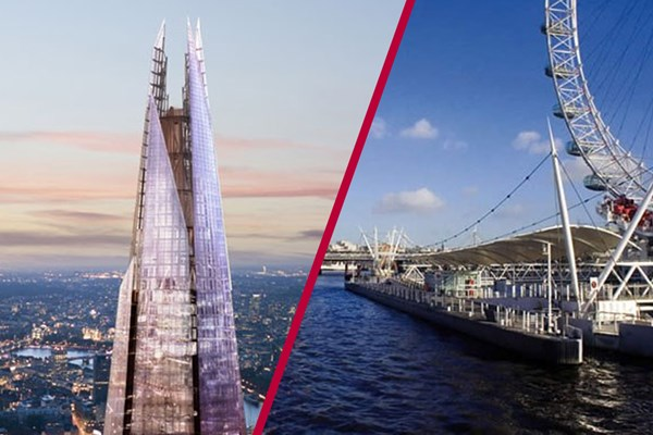 The View From The Shard With Thames Sightseeing Cruise For Two - Special Offer