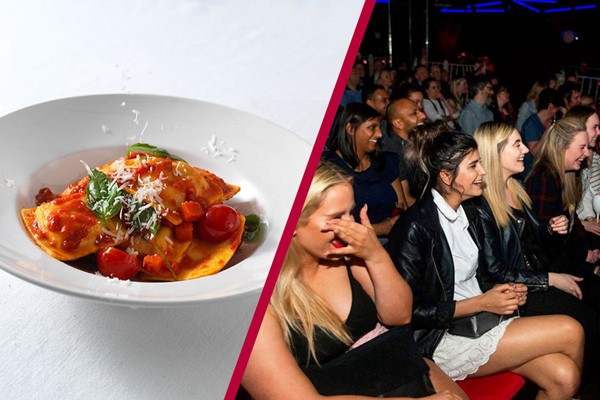 Comedy Tickets And Three Course Meal And Glass Of Wine For Two At Prezo