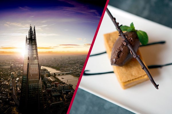 The View From The Shard With Three Course Dinner At Hotel Chocolats Rabot 1745