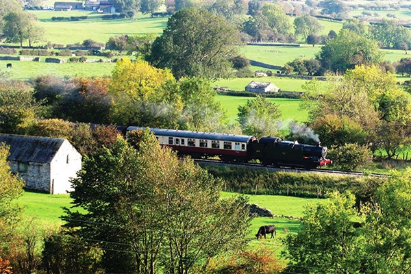 Family Heritage Train Ride At Wensleydale Railway