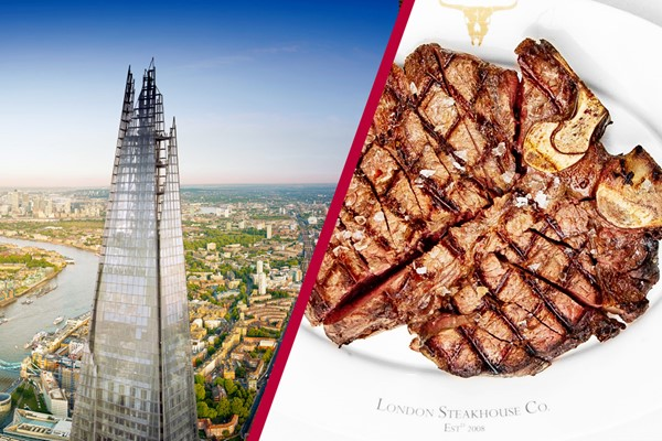 The View From The Shard With 3 Course Meal At Marco Pierre White London Steakhouse