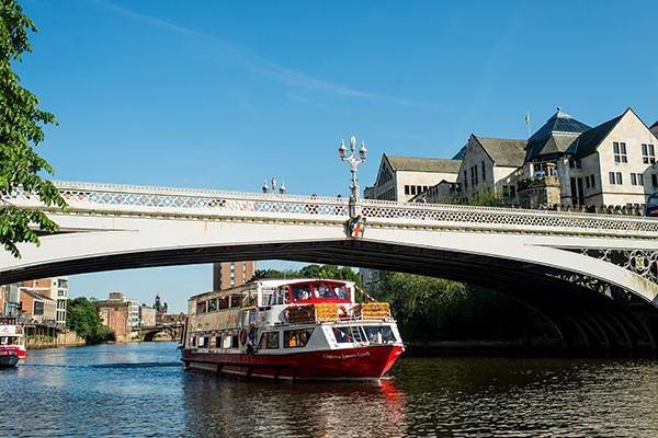 York Evening River Cruise With A Three Course Dinner For Two