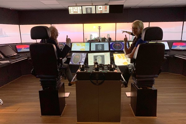 Ship Simulator Experience for a Family of Six
