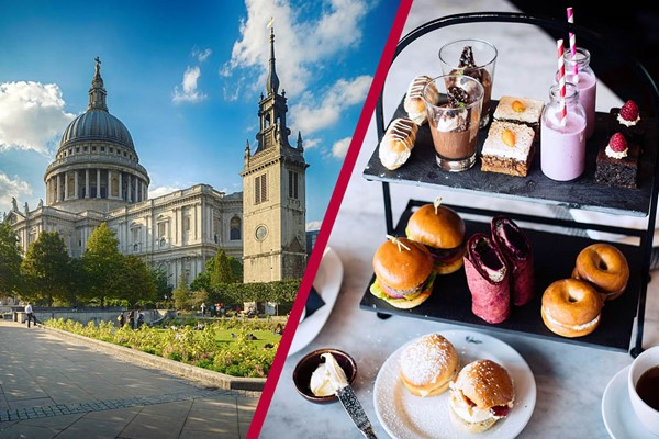 Buy St Paul's Cathedral Visit and Gin Afternoon Tea for Two at Malmaison London