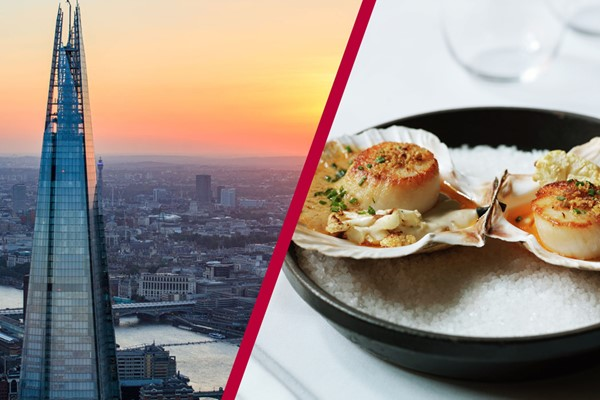 The View From The Shard With Lunch For Two At Gordon Ramsays Savoy Grill