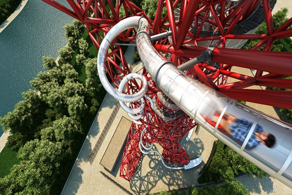 The Slide At The Arcelormittal Orbit And Three Course Meal At Cabana For Two
