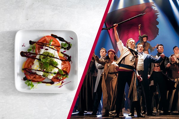 Buy Theatre Tickets to Les Miserables and a Meal with Wine for Two at Prezzo