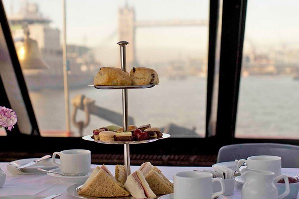 Afternoon Tea With Thames River Cruise For Two