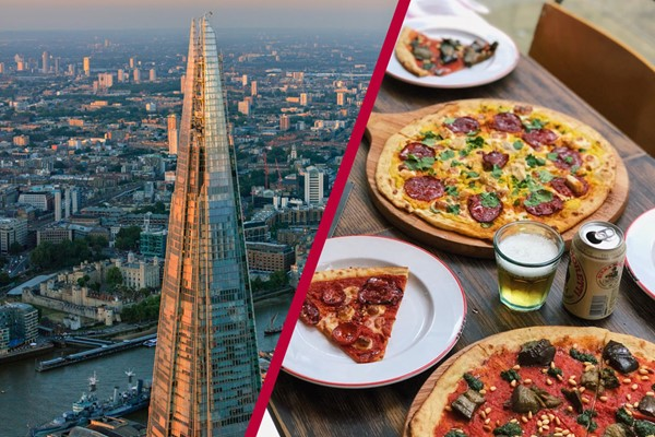 The View From The Shard With Bottomless Piza At Gordon Ramsays Street Piza In St Pauls For Two