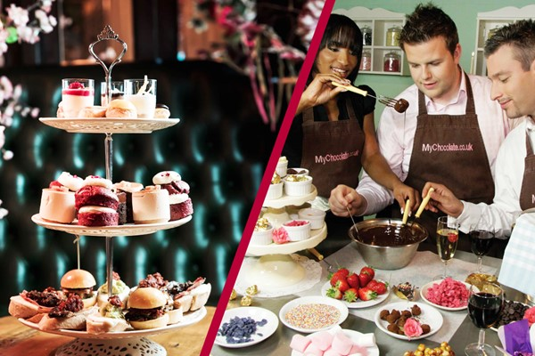 Chocolate Making Workshop and Tapas Style Champagne Afternoon Tea for Two at MAP Maison