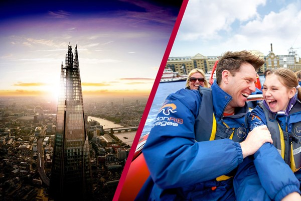 Highest Fastest! River Thames High Speed Boat RideandThe View From The Shard For Two