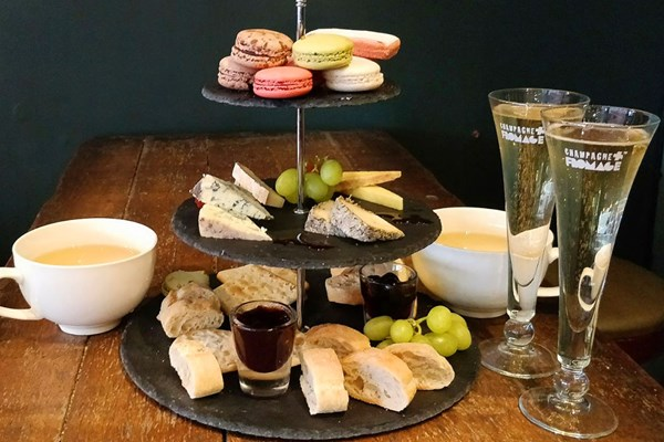 Champagne Afternoon Tea For Two At Champagne Plus Fromage