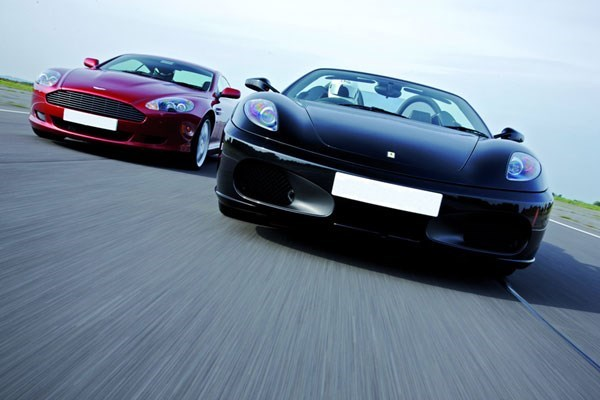 Ferrari And Aston Martin Driving Blast