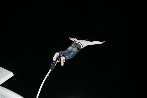 Night Time Bungee Jump In Scotland